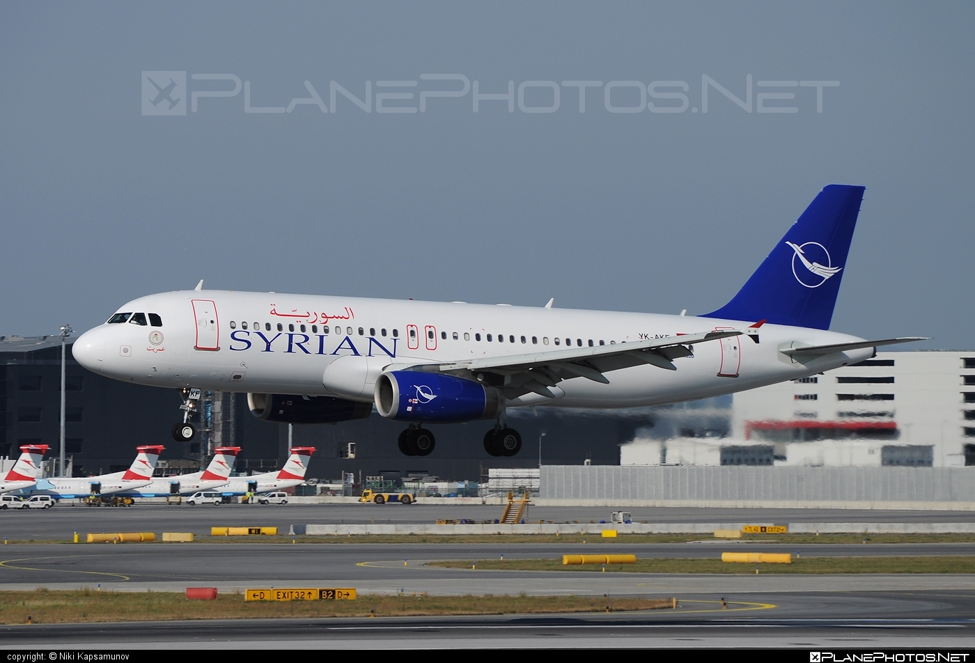 Airbus A320-232 - YK-AKF operated by SyrianAir - Syrian Arab Airline #a320 #a320family #airbus #airbus320