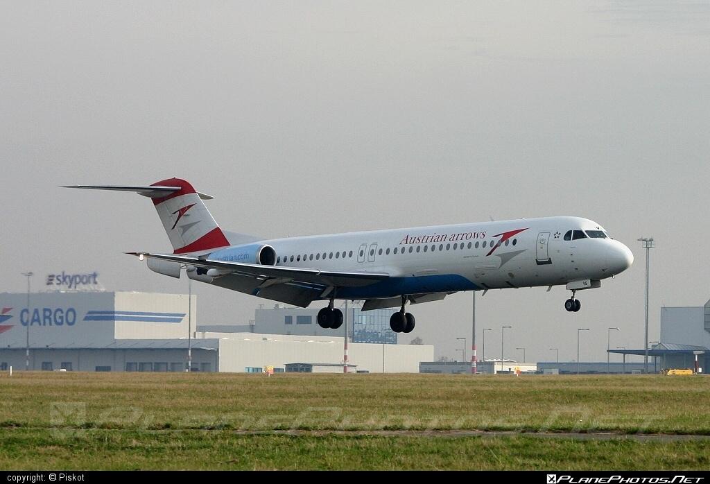 Fokker 100 - OE-LVE operated by Austrian arrows (Tyrolean Airways) #fokker #fokker100