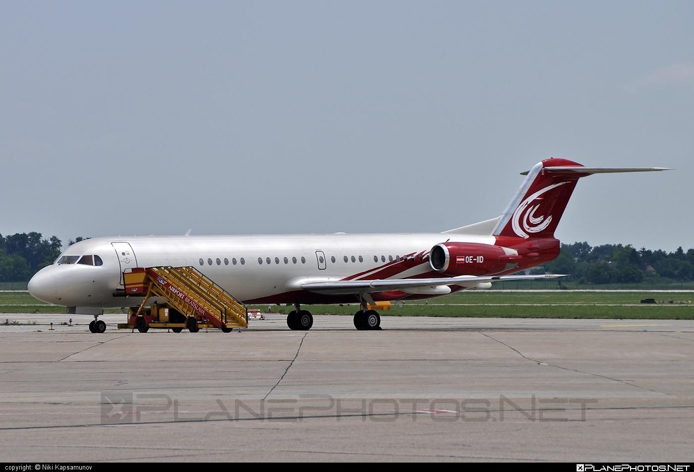 Fokker 100EJ - OE-IID operated by MJet #fokker