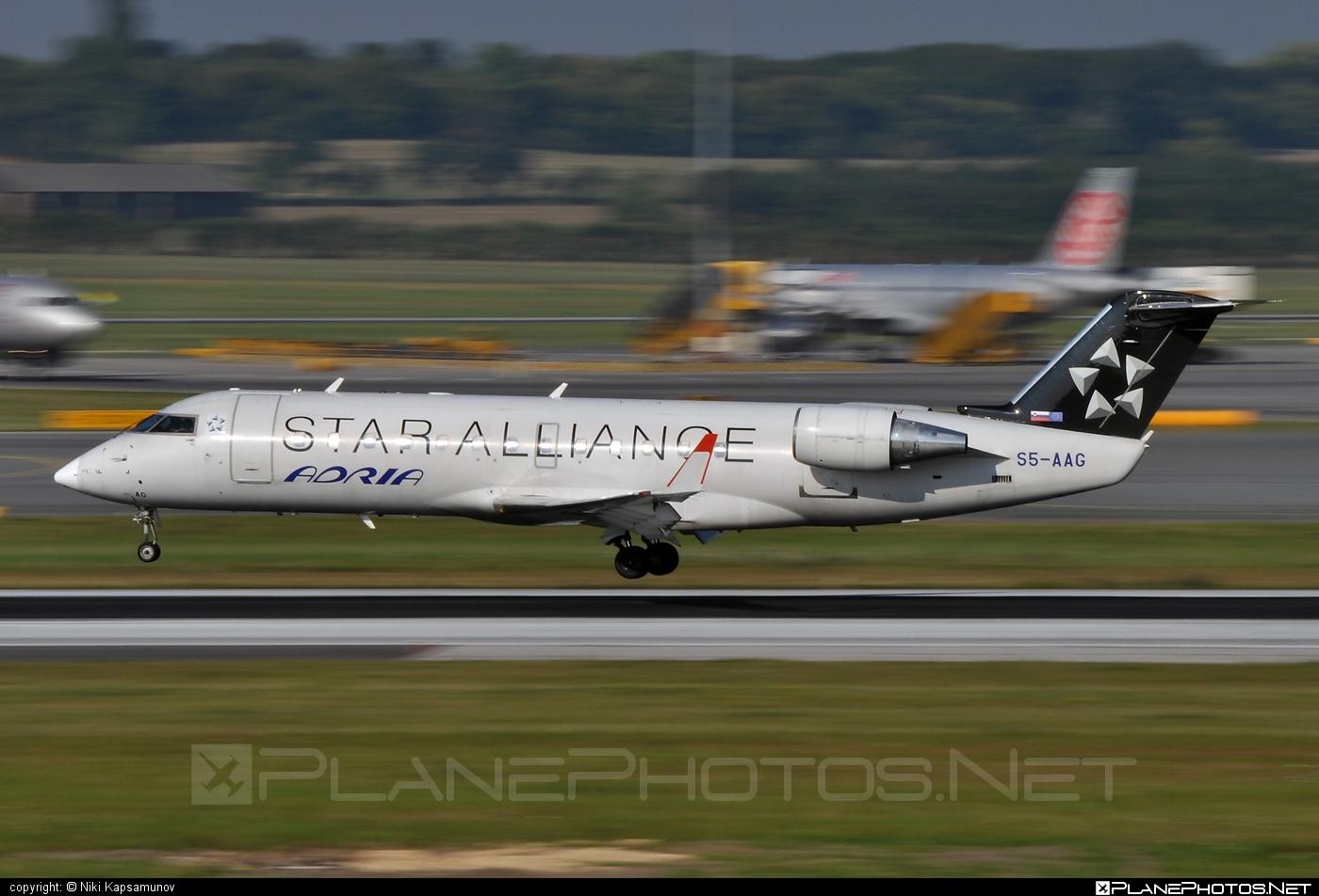 Bombardier CRJ200LR - S5-AAG operated by Adria Airways #bombardier #bombardiercrj #bombardiercrj200 #bombardiercrj200lr #crj200 #crj200lr #staralliance