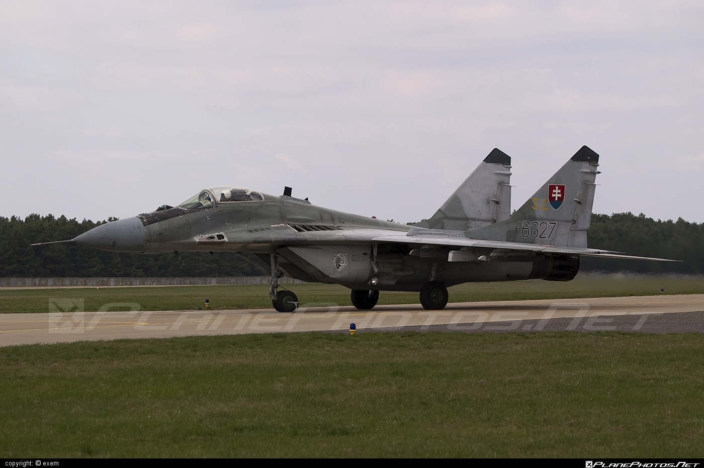 Mikoyan-Gurevich MiG-29AS - 6627 operated by Vzdušné sily OS SR (Slovak Air Force) #mig #mig29 #mig29as #mikoyangurevich #slovakairforce #vzdusnesilyossr