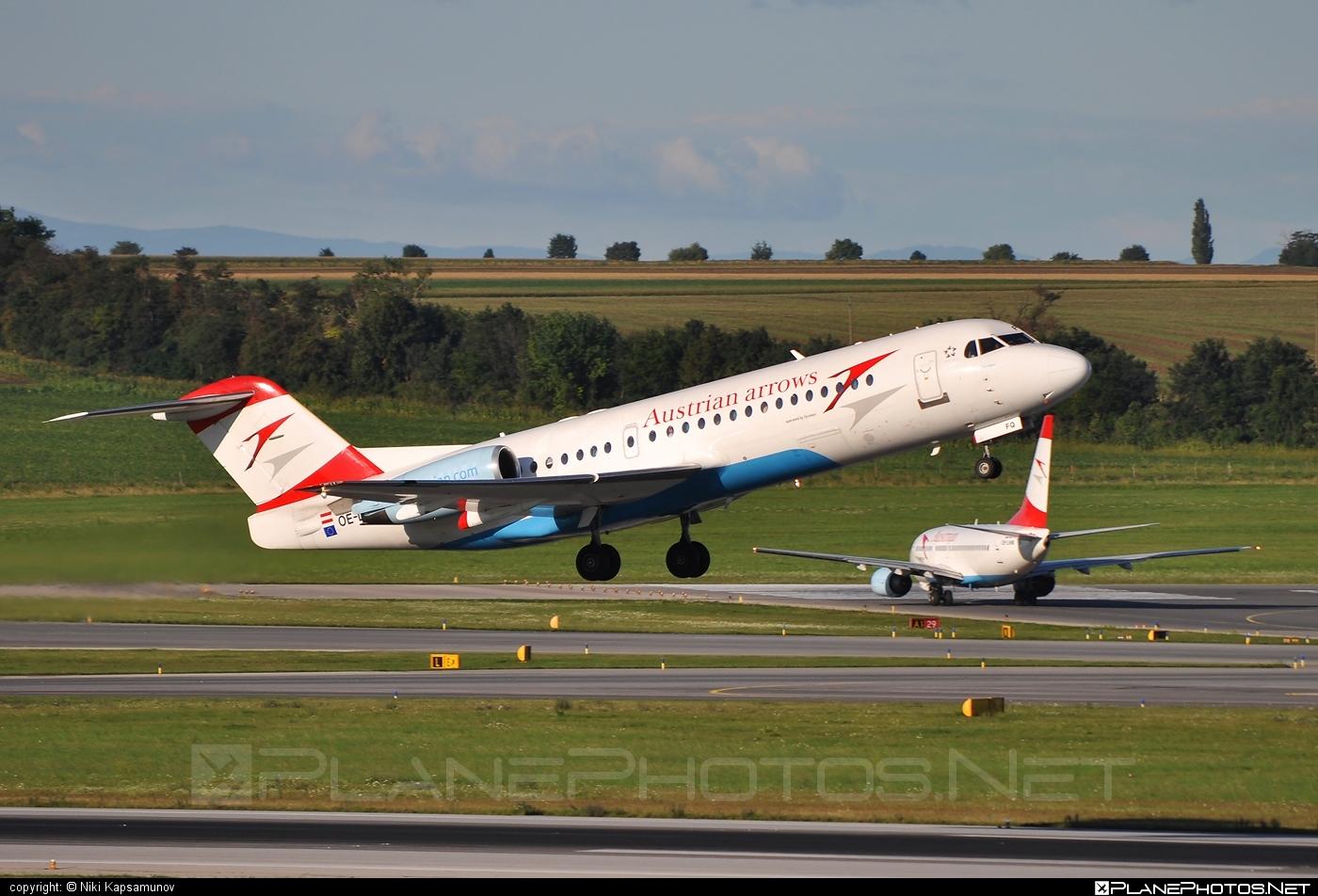 Fokker 70 - OE-LFQ operated by Austrian arrows (Tyrolean Airways) #fokker #fokker70