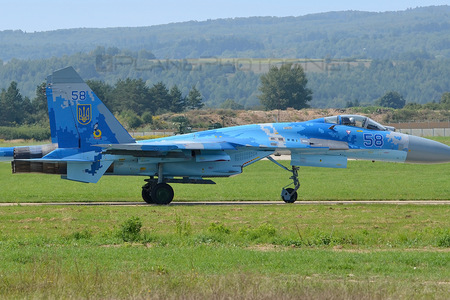 Sukhoi Su-27P - 58 operated by Povitryani Syly Ukrayiny (Ukrainian Air Force)
