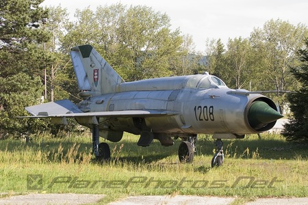 Mikoyan-Gurevich MiG-21MA - 1208 operated by Vzdušné sily OS SR (Slovak Air Force)