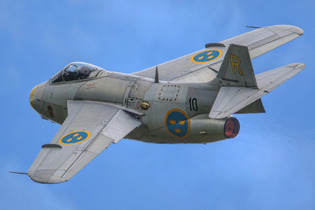 Saab J 29F Tunnan - SE-DXB operated by Swedish Air Force Historic Flight