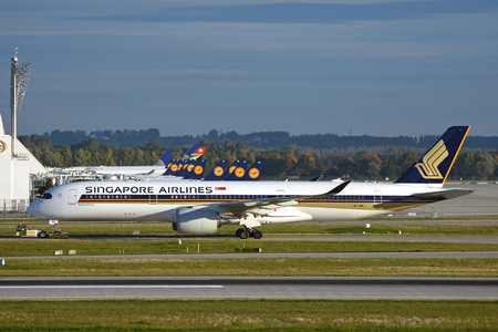 Airbus A350-941 - 9V-SMD operated by Singapore Airlines
