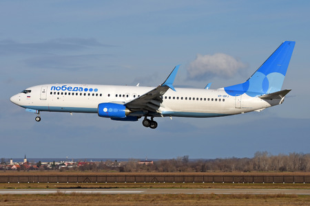 Boeing 737-800 - VP-BPJ operated by Pobeda