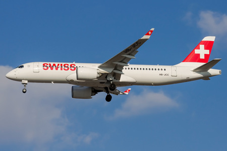 Bombardier BD-500-1A11 C Series CS300 - HB-JCC operated by Swiss International Air Lines