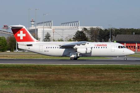 British Aerospace Avro RJ100 - HB-IXQ operated by Swiss Global Air Lines