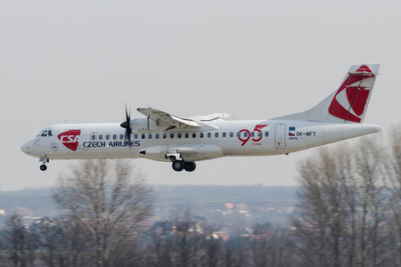 ATR 72-212A - OK-MFT operated by CSA Czech Airlines