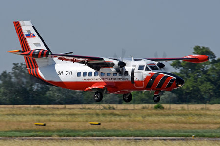 Let L-410UVP-E-LW Turbolet - OM-SYI operated by Dopravný úrad SR (Transport Authority of the Slovak Republic)