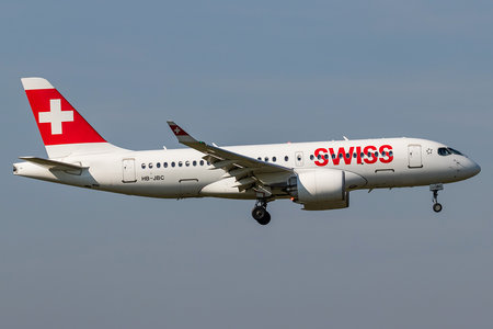 Bombardier BD-500-1A10 C Series CS100 - HB-JBC operated by Swiss International Air Lines