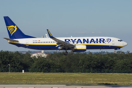 Boeing 737-800 - EI-DYA operated by Ryanair