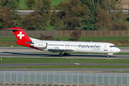 Fokker 100 - HB-JVC operated by Helvetic Airways