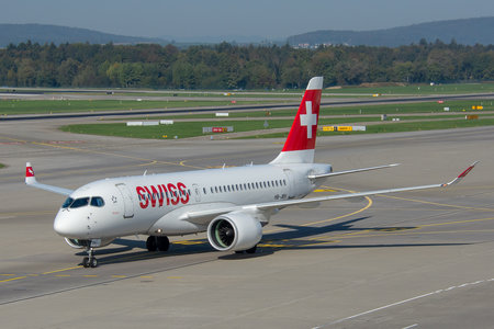 Bombardier BD-500-1A10 C Series CS100 - HB-JBH operated by Swiss International Air Lines