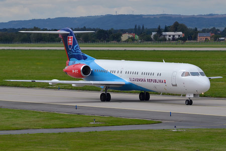 Fokker 100EJ - OM-BYC operated by Letecký útvar MV SR (Slovak Government Flying Service)