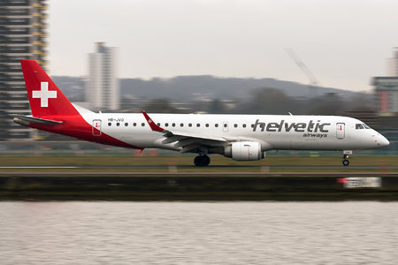 Embraer E190LR (ERJ-190-100LR) - HB-JVO operated by Helvetic Airways
