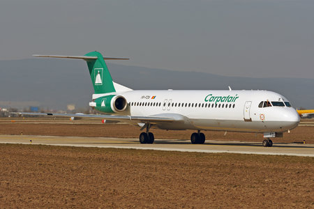Fokker 100 - YR-FZA operated by Carpatair