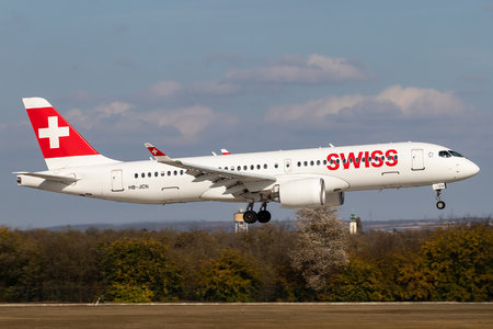 Airbus A220-300 - HB-JCN operated by Swissair