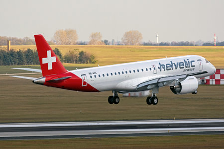 Embraer E190-E2 (ERJ-190-300STD) - HB-AZA operated by Helvetic Airways
