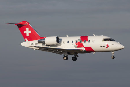 Bombardier CL-600-2B16 Challenger 650 - HB-JWB operated by REGA - Swiss Air Ambulance
