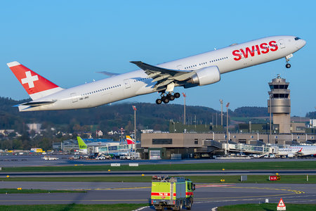 Boeing 777-300ER - HB-JNC operated by Swiss International Air Lines