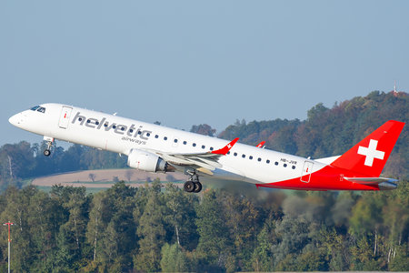 Embraer 190-100LR - HB-JVR operated by Helvetic Airways