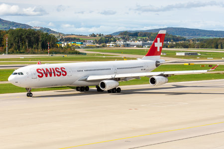 Airbus A340-313 - HB-JMB operated by Swiss International Air Lines
