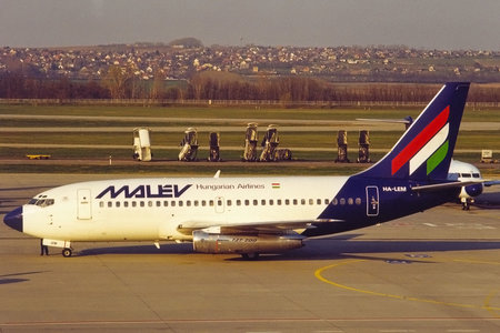Boeing 737-200 - HA-LEM operated by Malev Hungarian Airlines