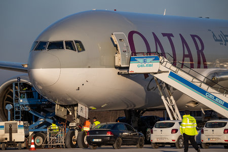 Boeing 777F - A7-BFI operated by Qatar Airways Cargo