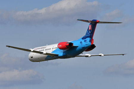 Fokker 100 - OM-BYB operated by Letecký útvar MV SR (Slovak Government Flying Service)