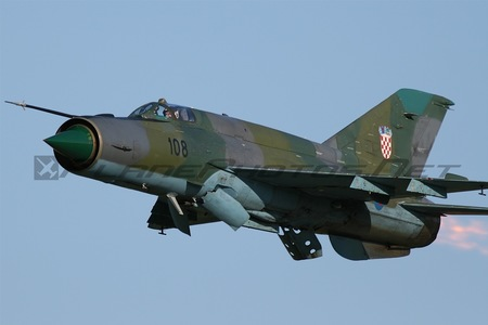 Mikoyan-Gurevich MiG-21bis-D - 108 operated by Hrvatsko ratno zrakoplovstvo i protuzračna obrana (Croatian Air Force)