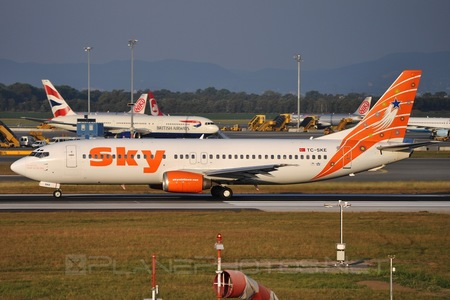 Boeing 737-400 - TC-SKE operated by Sky Airlines