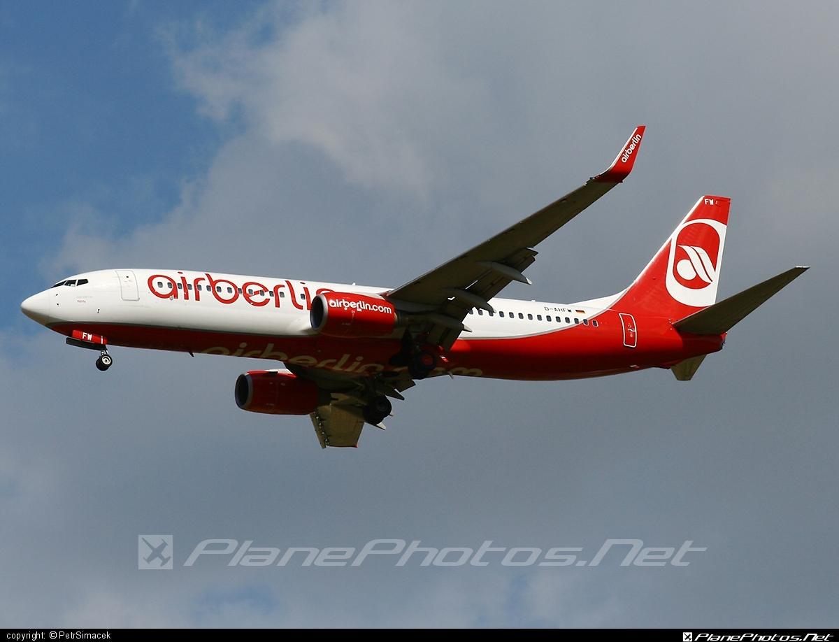 Boeing 737-800 - D-AHFW operated by Air Berlin #airberlin #b737 #b737nextgen #b737ng #boeing #boeing737