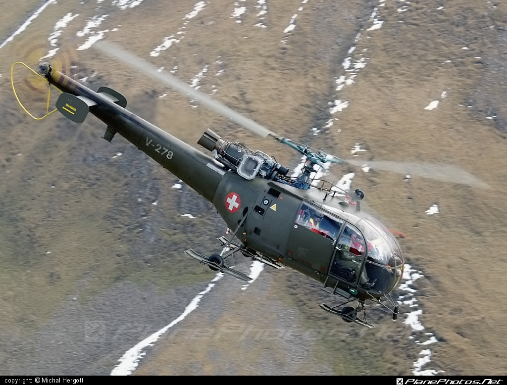 Aerospatiale SA-316B Alouette III - V-278 operated by Schweizer Luftwaffe (Swiss Air Force) #aerospatiale