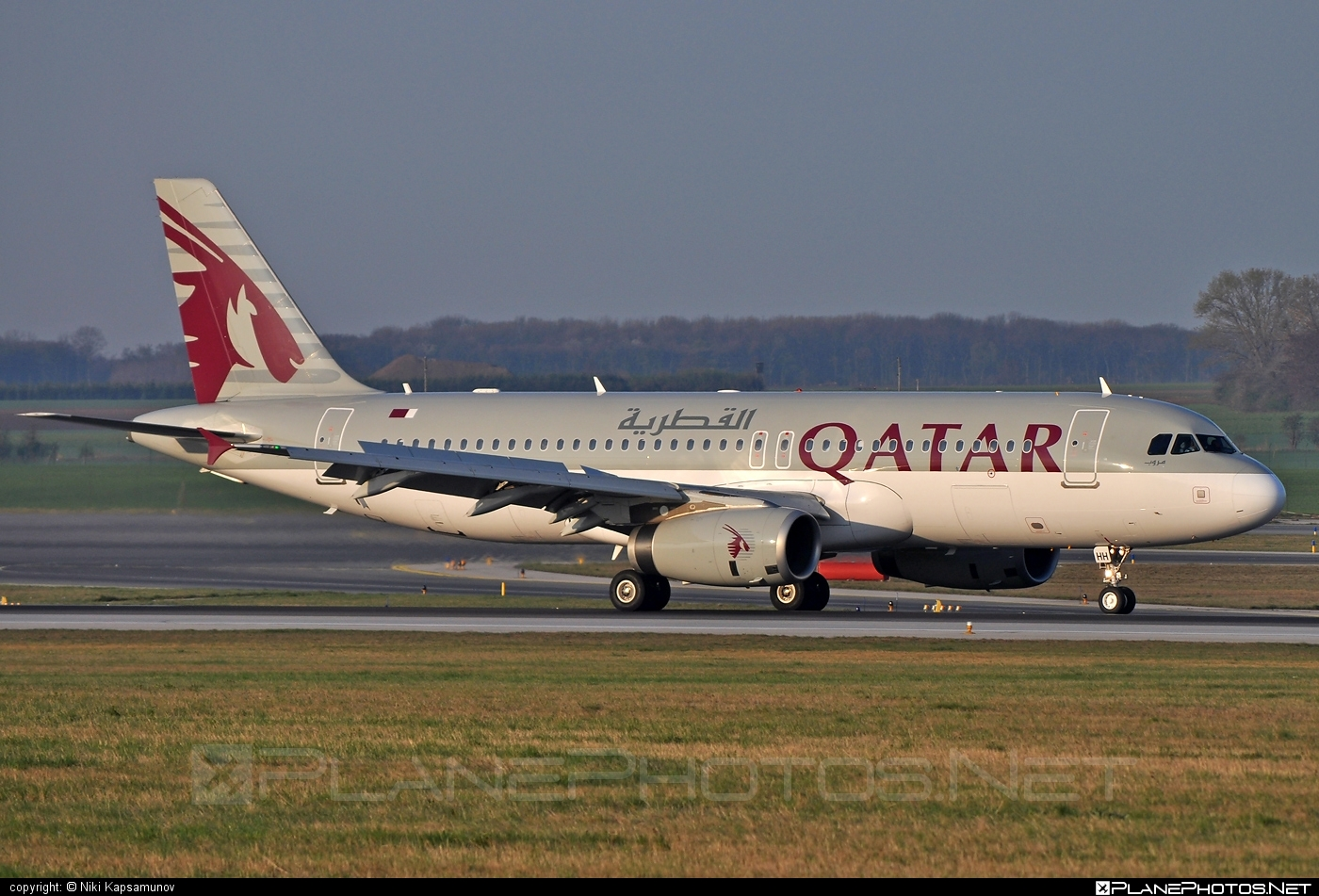 Airbus A320-232 - A7-AHH operated by Qatar Airways #a320 #a320family #airbus #airbus320 #qatarairways