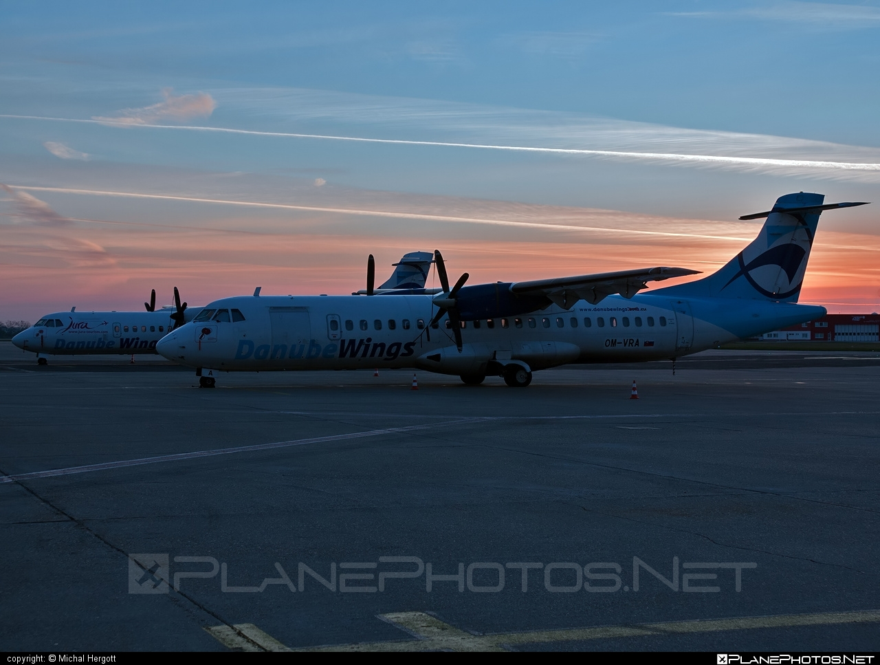 ATR 72-202 - OM-VRA operated by Danube Wings #atr