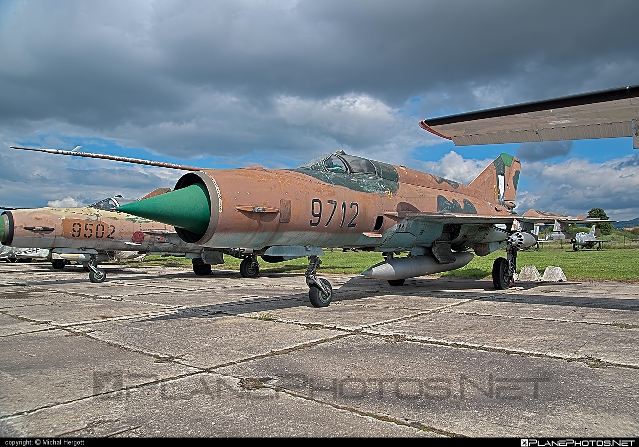 Mikoyan-Gurevich MiG-21MF - 9712 operated by Vzdušné sily OS SR (Slovak Air Force) #mig #mig21 #mig21mf #mikoyangurevich #slovakairforce #vzdusnesilyossr
