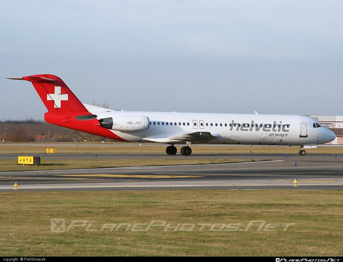 Fokker 100 - HB-JVC operated by Helvetic Airways #fokker