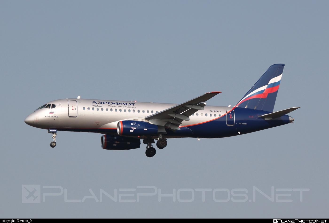 Sukhoi SSJ 100-95B Superjet - RA-89001 operated by Aeroflot #aeroflot #ssj100 #ssj10095b #sukhoi #sukhoisuperjet #superjet