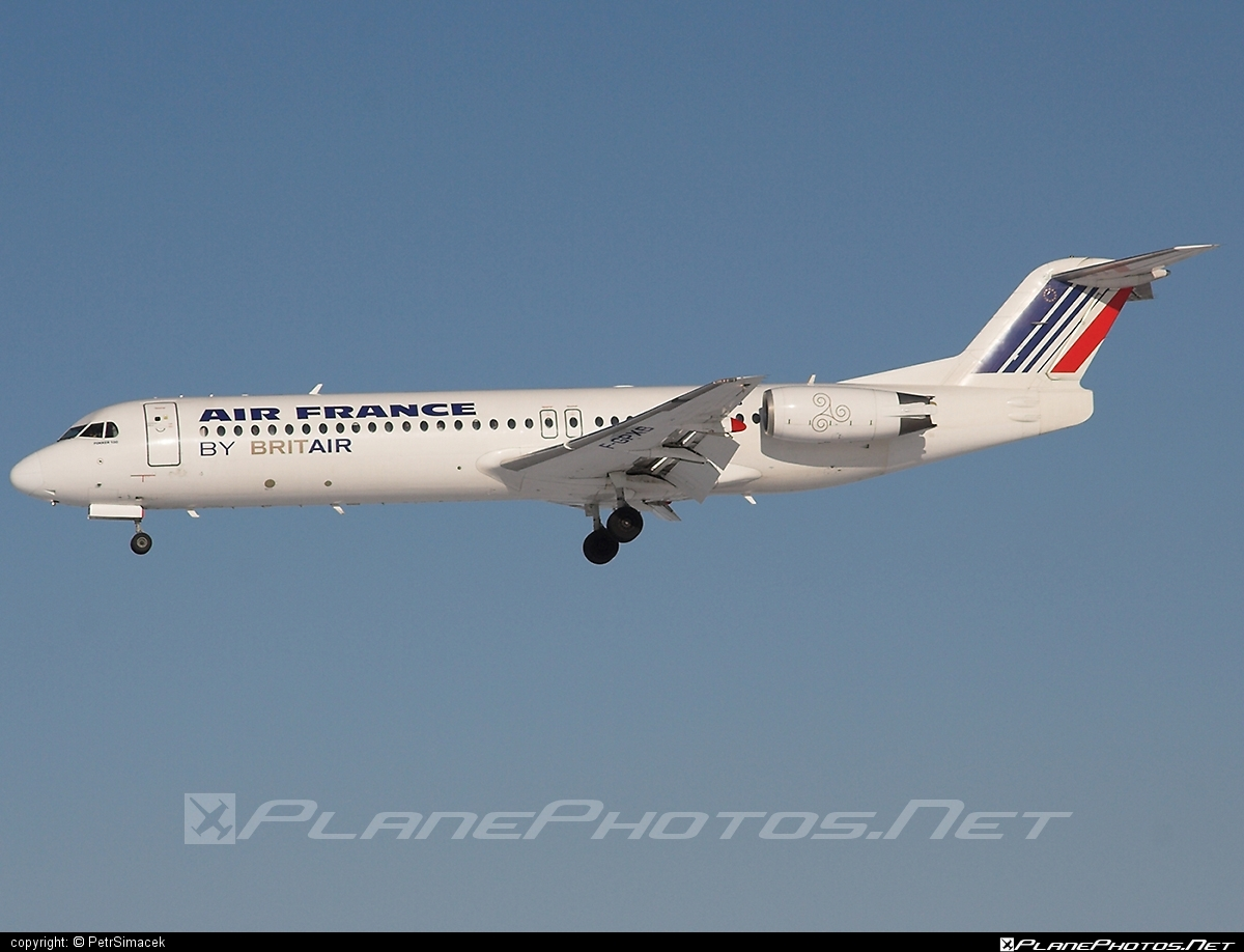 Fokker 100 - F-GPXB operated by Air France (Brit Air) #fokker