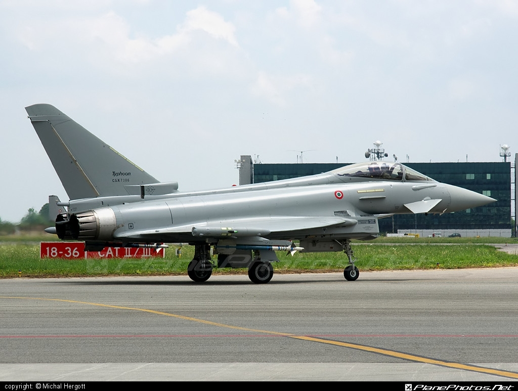 Eurofighter Typhoon S - CSX7306 operated by Aeronautica Militare (Italian Air Force) #eurofighter #typhoon