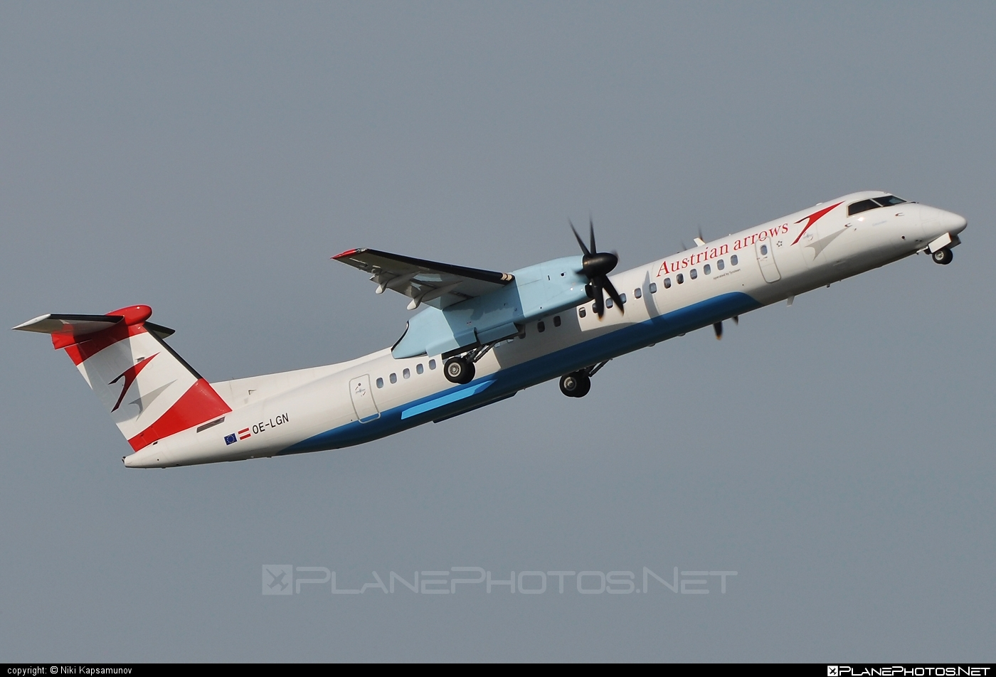 Bombardier DHC-8-Q402 Dash 8 - OE-LGN operated by Austrian arrows (Tyrolean Airways) #bombardier #dash8 #dhc8 #dhc8q402
