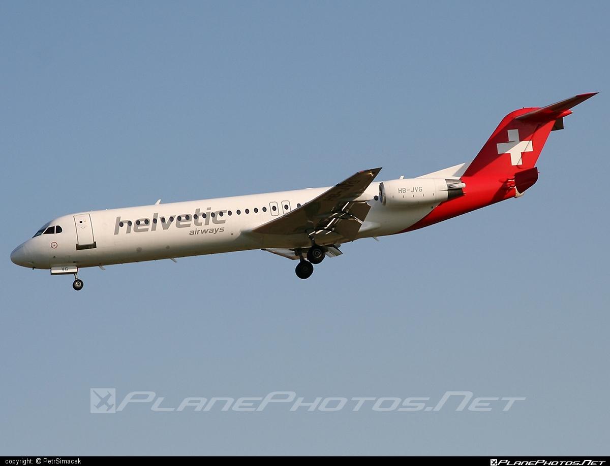 Fokker 100 - HB-JVG operated by Helvetic Airways #fokker #fokker100
