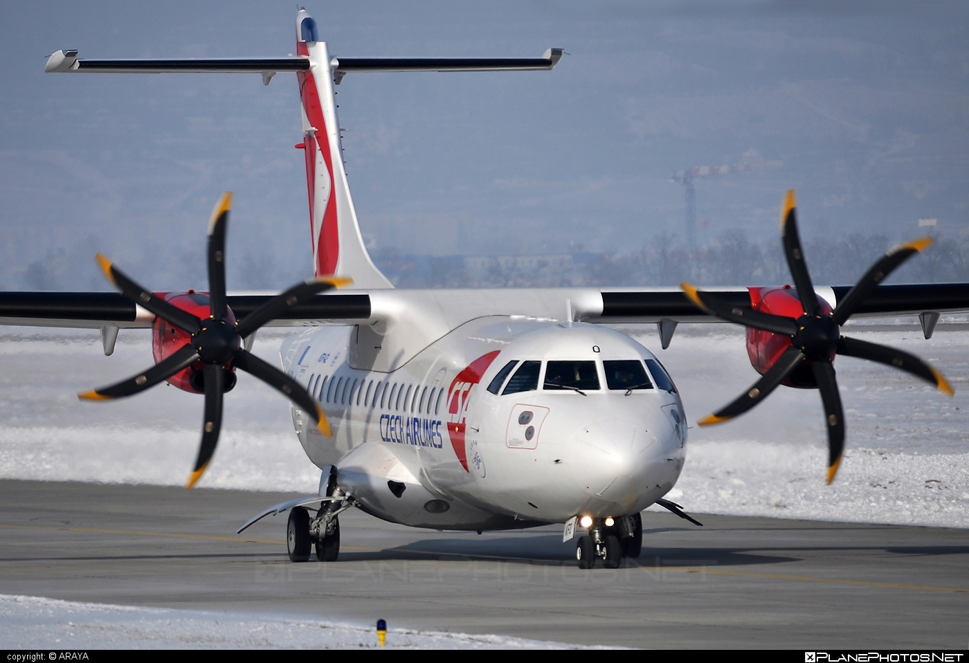 ATR 42-500 - OK-KFO operated by CSA Czech Airlines #atr #atr42 #atr42500 #csa #czechairlines