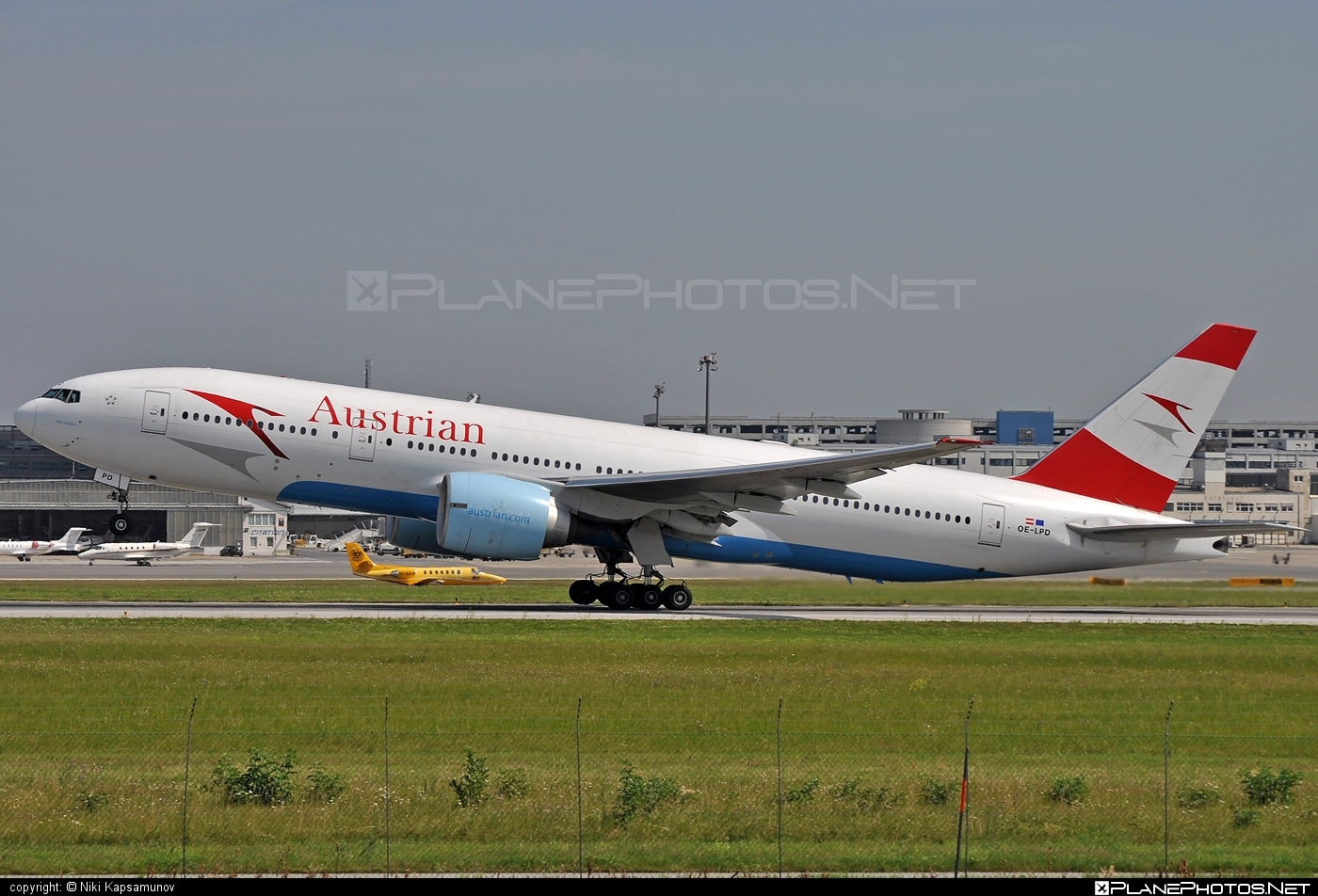 Boeing 777-200ER - OE-LPD operated by Austrian Airlines #b777 #b777er #boeing #boeing777 #tripleseven