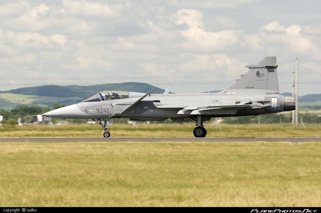 Saab JAS 39C Gripen - 9241 operated by Vzdušné síly AČR (Czech Air Force) #czechairforce #gripen #jas39 #jas39c #jas39gripen #saab #vzdusnesilyacr
