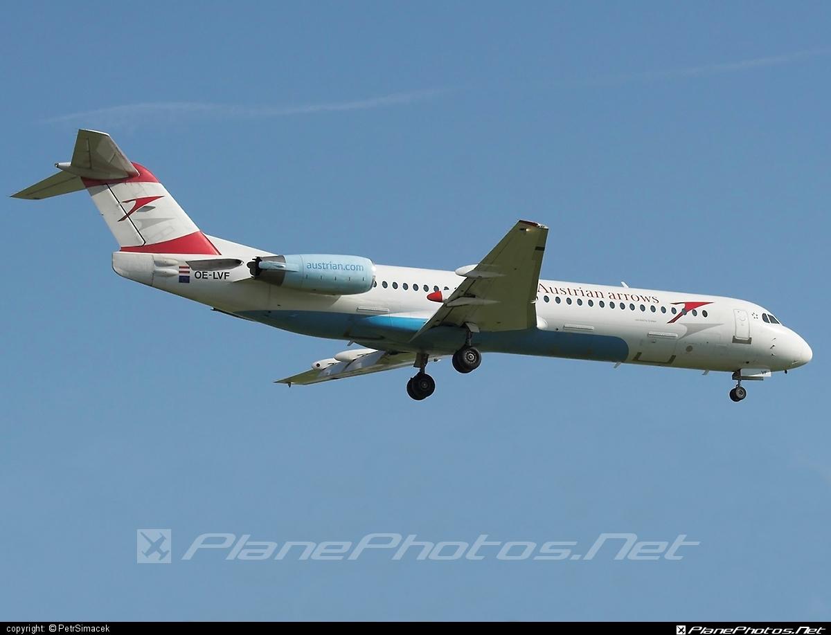 Fokker 100 - OE-LVF operated by Austrian arrows (Tyrolean Airways) #fokker #fokker100
