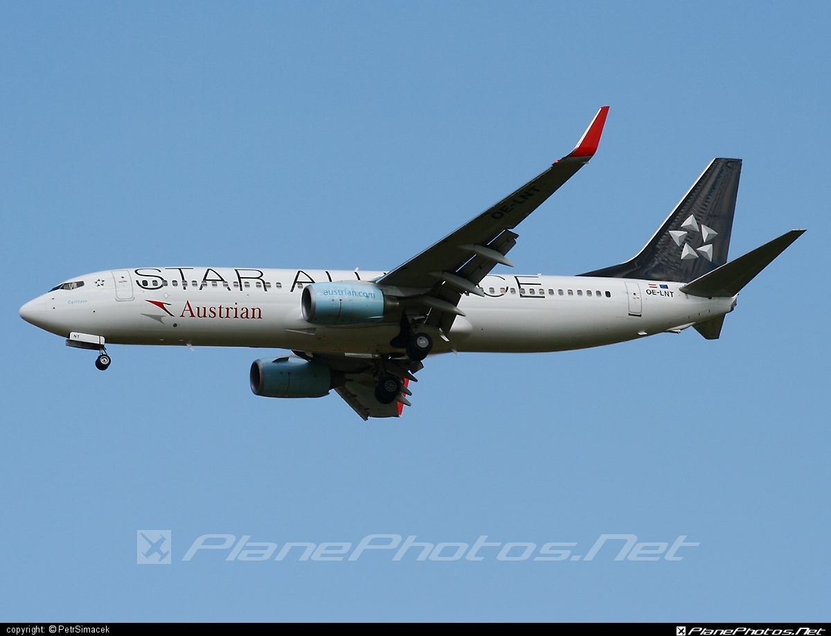 Boeing 737-800 - OE-LNT operated by Austrian Airlines #b737 #b737nextgen #b737ng #boeing #boeing737 #staralliance