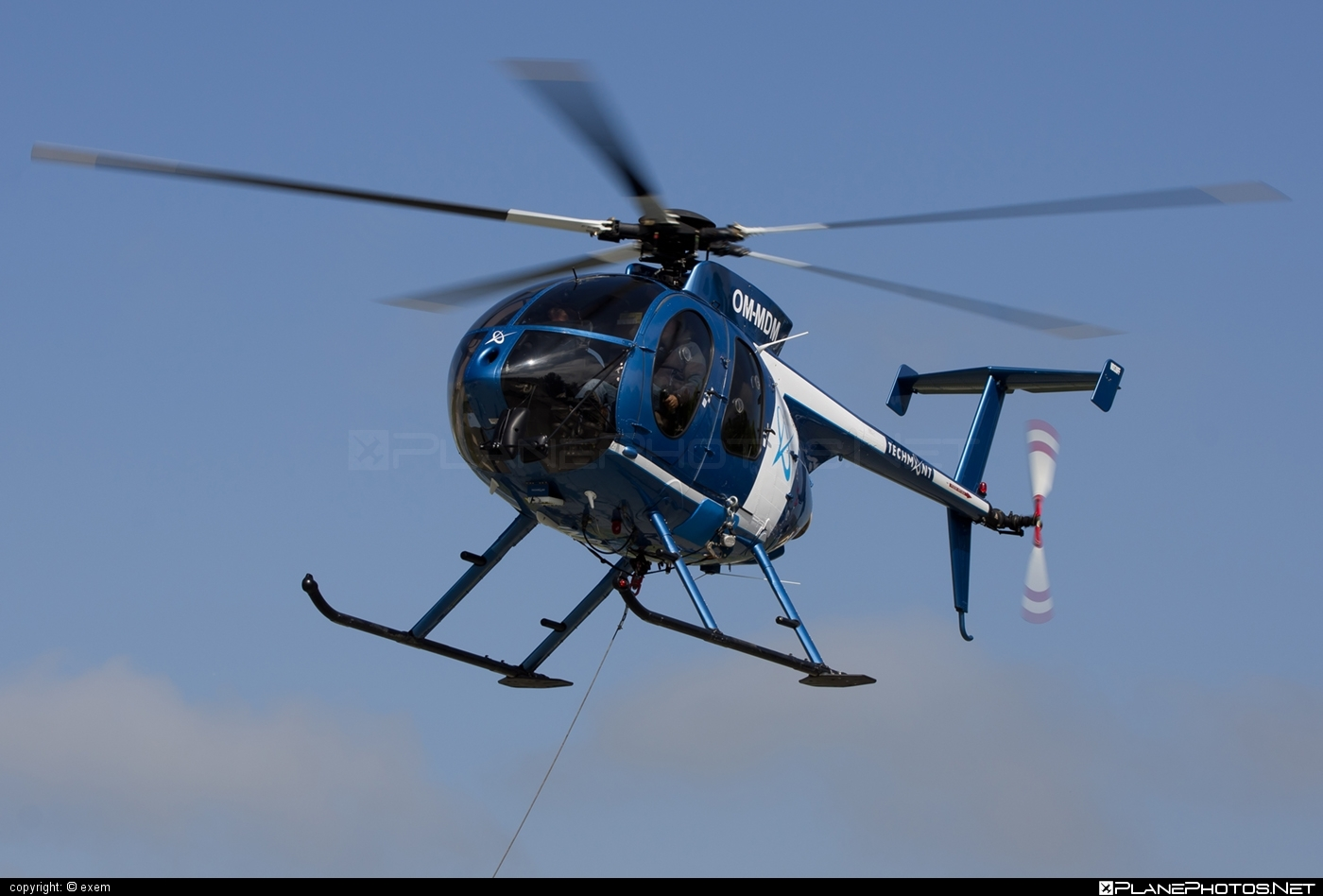 MD Helicopters MD-530F - OM-MDM operated by TECH-MONT Helicopter company #mdhelicopters